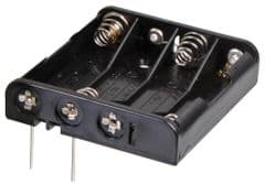 PRO POWER PP002073  Battery Holder, 4X Aaa, Pcb